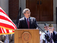 May 2009. Bill speaking during the Memorial Day Observance in Mattapoisett