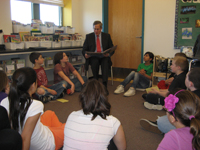 Reading to East Fairhaven School April 2012