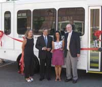 Bill helps dedicate new Council on Aging vans