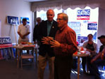 Bill addresses local Democrats on October 18th in New Bedford alongside Congressman Bill Keating